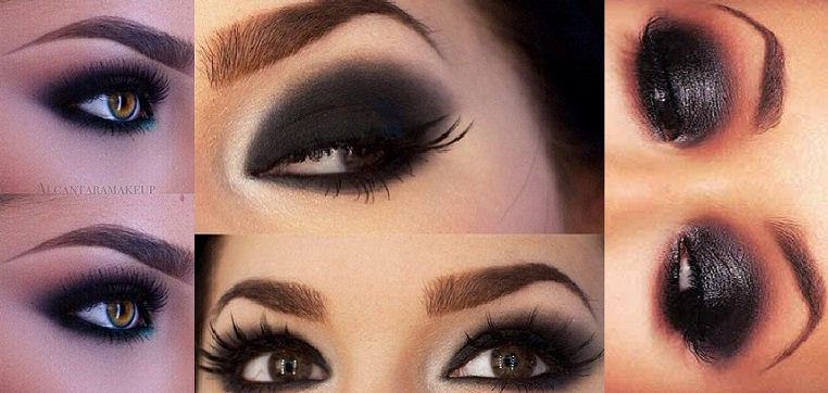 Step by step smokey eye makeup for blue eyes